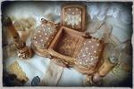 Подарочный набор Вивьен ( шкатулка - триптих и лампо свечи