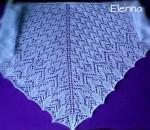 Голубая мохеровая шаль