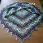Треугольная мохеровая шаль