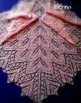 Розовая мохеровая шаль.