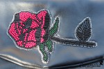 Сумочка-клатч с розой