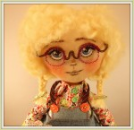 Текстильная кукла Эмилия
