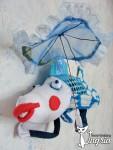 Интерьерная игрушка Зачем рыбе зонтик?