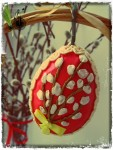 Пасхальные яйца с вышивкой лентами