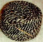 Пряжа для машинного вязания из собачьей шерсти.