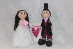 Интерьерные свадебные куклы