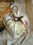 Ароматическое льняное сердце из натурального льна