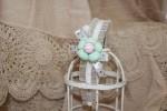 Набор ободок и брошь с текстильным цветком «Маленькая модница».