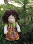 кукла Кудряшка по мотивам вальдорфской