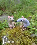 Кот и мыши, вязаные игрушки.