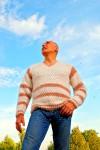 Пуловер мужской «Деревенское Утро» из собачьей шерсти.