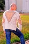 Пуловер  «Витязь» из собачьей шерсти.
