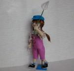 Валяная шарнирная кукла Маришка
