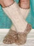 Носки – гольфы  зимние толстые  вязанные арт. №25м из собачьей шерсти.