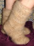 Носки вязаные из собачьей шерсти на ЗАКАЗ .