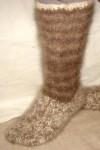 Носки – гольфы  пуховые  вязанные арт. №28м из собачьего пуха .