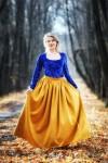 Длинная юбка из замши