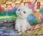 Котенок Мурзик валяный из шерсти