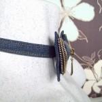 Галстук бабочка джинсовая с молнией