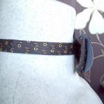 Галстук бабочка шелковая серебристая двусторонняя Armani