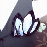 Галстук бабочка черная Straight edge Just Cavalli