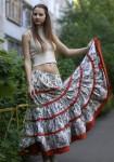 Льняная юбка бохо