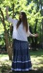 Многоярусная пышная юбка из хлопка