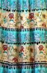 Длинная ярусная юбка из штапеля