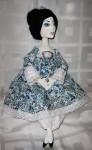Текстильная будуарная кукла