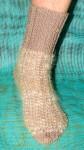 Носки-стрейтч  артикул №29ж  спортивные ручного вязания  .