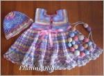Летний комплект для новорождённой девочки или для куклы ребоны