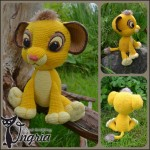 Львенок Симба, вязаная игрушка.