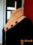 Шарф на пуговицах персиковый женский
