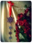 Новогодняя гирлянда-подвеска вертикальная *Снегопад на Рождество*