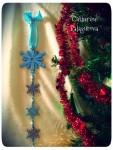 Новогодняя гирлянда-подвеска вертикальная *Новогодний снегопад*