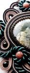 сутажный кулон «Где-то между мятой и полынью» (яшма)