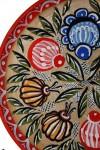 Декоративная тарелка/панно ручной работы.(Городецкая роспись)