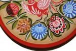 Деревянная тарелка/панно ручной работы (Городецкая роспись)