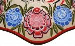 Деревянная разделочная доска ручной работы (Городецкая роспись)