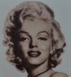 Портрет Мэрилин Монро. Вышивка крестиком.