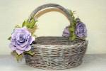 Корзина плетеная  подарочная «Лиловое утро»