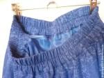 Юбка-миди из хлопка Синяя