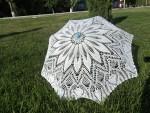 Вязаный кружевной зонт