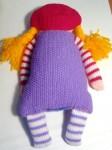 Вязаная кукла с косичками