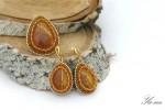 Комплект серьги и кольцо с симбирцитами.