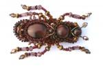 Брошь-жук из бисера
