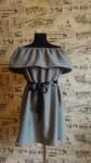 Платье Оверсайз с воланом на плечах