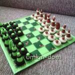 Шахматы и шашки из фетра. Авторская ручная работа.