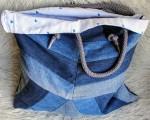 Сумка из джинсовых лоскутков