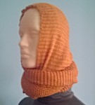 Снуд-хомут-накидка с шапкой